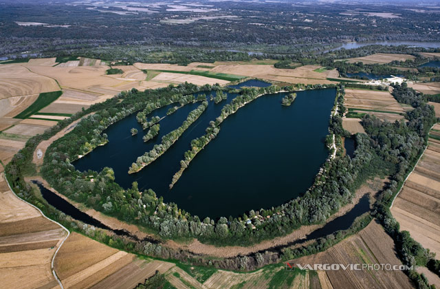 Jegenis lake in the heart of Croatian Podravina district near to Hungarian state limit.